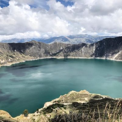 BLOG INTERNSHIP YELITH Quilotoa lake-selfie-Latagunga - Ecuador & Galapagos Tours