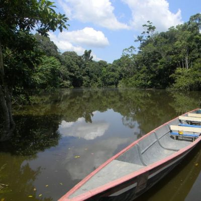 CUYABENO JUNGLE TOUR Surroundings - Canoe at lodge - Ecuador & Galapagos Tours