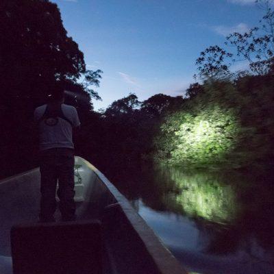CUYABENO JUNGLE TOUR Surroundings - Canoe at night - Ecuador & Galapagos Tours