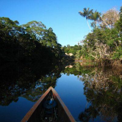 CUYABENO JUNGLE TOUR Surroundings - Canoe on river - Ecuador & Galapagos Tours