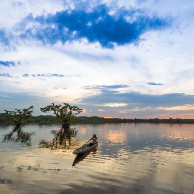 CUYABENO JUNGLE TOUR Surroundings - Laguna Grande sunset 2 - Ecuador & Galapagos Tours