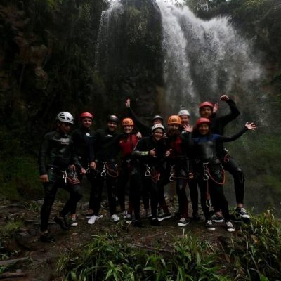 WHY BAÑOS A MUST VISIT IS WHEN TRAVELING TO ECUADOR Canyoning-Baños-adveture- sport- group- activitie - Ecuador & Galapagos Tours