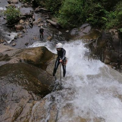 WHY BAÑOS A MUST VISIT IS WHEN TRAVELING TO ECUADOR Canyoning-abseilen-aventure-waterfalls-sport - Ecuador & Galapagos Tours
